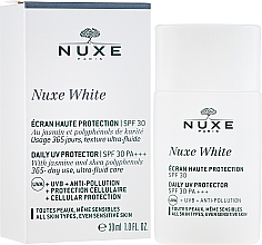 Profumi e cosmetici Protezione solare per il viso - Nuxe White Daily UV Protector SPF30 PA+++