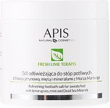 Profumi e cosmetici Sale rinfrescante per piedi - APIS Professional Fresh Lime Terapis Refreshing Footbath Salt