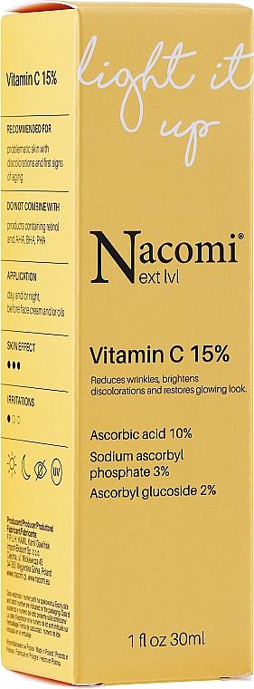 Siero viso con il 15% di vitamina C - Nacomi Next Level Vitamin C 15%