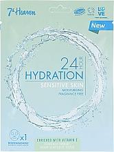 Profumi e cosmetici Maschera per pelli sensibili - 7th Heaven 24H Hydration Sensitive Skin Sheet Mask