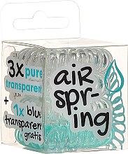Profumi e cosmetici Elastici per capelli trasparenti + trasparente-turchese, 4 pz - Hair Springs
