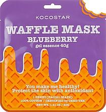 "Profumi e cosmetici Maschera antinfiammatoria ""Mirtillo fresco"" - Kocostar Blueberry Waffle Mask"