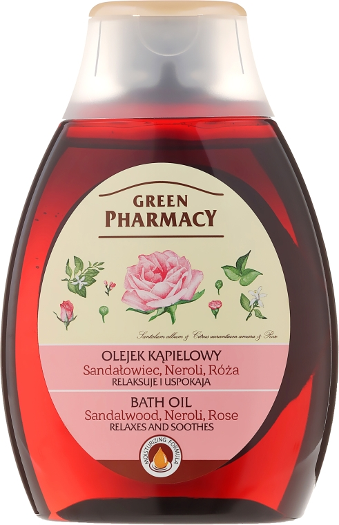"Olio da bagno e doccia ""Sandalo, Neroli e Rosa"" - Green Pharmacy"