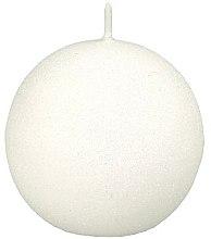 "Profumi e cosmetici Candela decorativa ""Glamorous ball"" bianca, 8 cm - Artman Glamour"