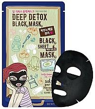 Profumi e cosmetici Maschera viso detossinante - Dewytree Deep Detox Black Sheet Mask