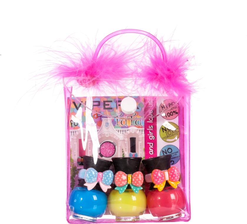 Set in beauty case con pompon - Tutu Peel-Off (n/polish/5mlx3 + bag) (11)