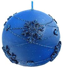 Profumi e cosmetici Candela decorativa, palla blu, 10 cm - Artman Snowflake Application