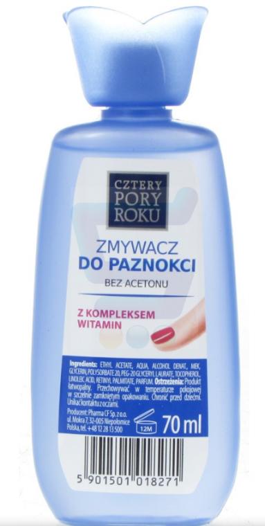 Solvente per smalto senza acetone con complesso vitaminico - Cztery Pory Roku