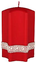 "Profumi e cosmetici Candela decorativa ""Stella"", rossa, 9x14cm - Artman Crystal Opal Pearl"