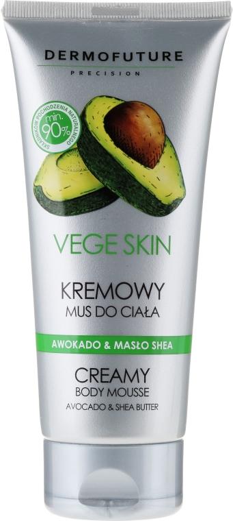 "Crema-mousse corpo ""Avocado e burro di karitè"" - DermoFuture Vege Skin Creamy Body Mousse Avocado & Shea Butter"