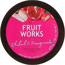 """Profumi e cosmetici Burro per il corpo """"Rabarbaro e melograno"""" - Grace Cole Fruit Works Body Butter Rhubarb & Pomegranate"""