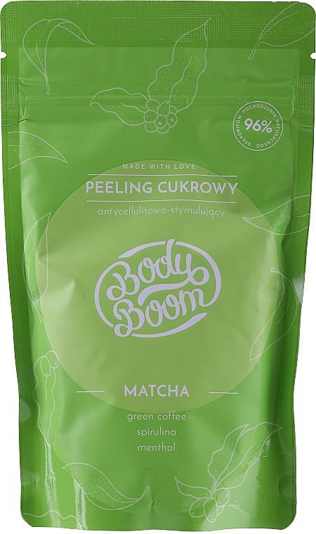 Scrub corpo allo zucchero anticellulite con matcha - BodyBoom Body Scrub — foto N1
