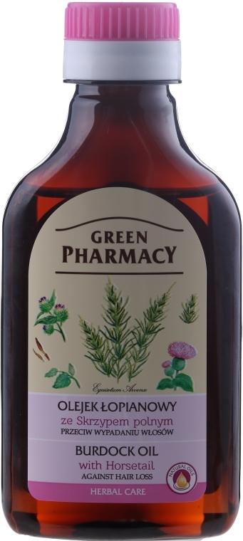 Olio di bardana con estratto di equiseto contro la caduta dei capelli - Green Pharmacy