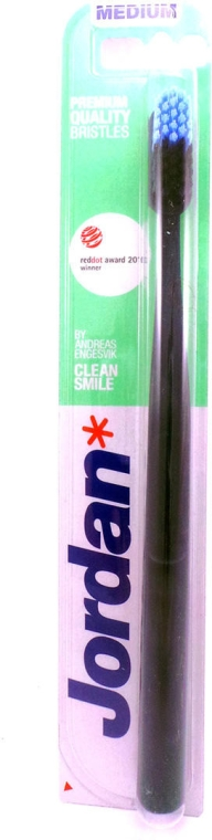 Spazzolino da denti, medio, nero - Jordan Clean Smile Medium — foto N1