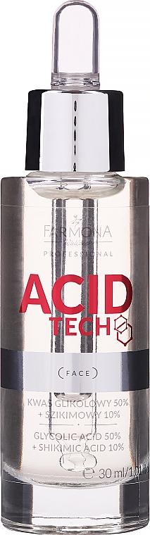 Acido glicolico 50% e acido shikimico 10% per peeling - Farmona Professional Acid Tech Glycolic Acid 50% + Shikimic Acid 10%