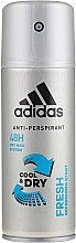 Profumi e cosmetici Deodorante - Adidas Anti-Perspirant Fresh Cool Dry 48h