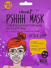 Profumi e cosmetici Maschera viso rinfrescante all'ossigeno con menta dolce e complesso Acid + - Vilenta Pshhh Mask