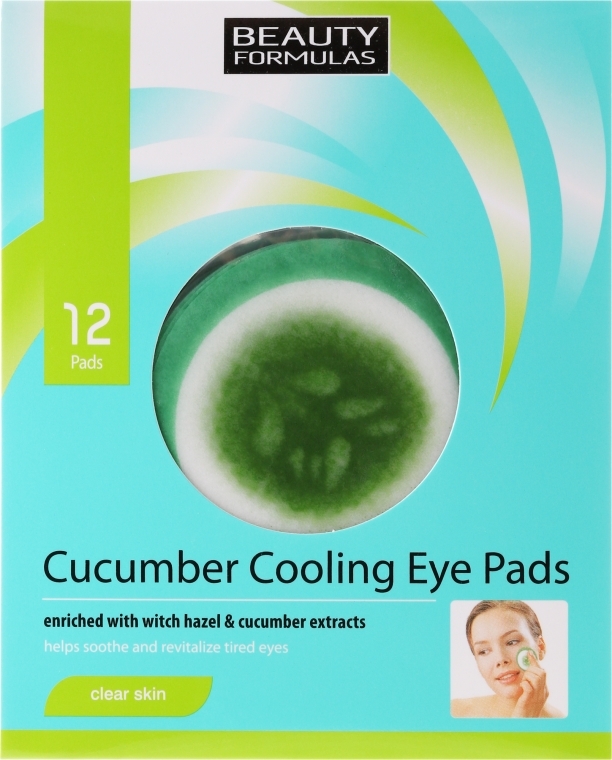Patch occhi - Beauty Formulas Cucumber Cooling Eye Pads