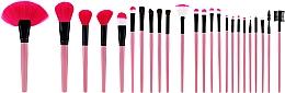 Profumi e cosmetici Set di pennelli per il trucco professionale, 24 pezzi, rosa - Tools For Beauty