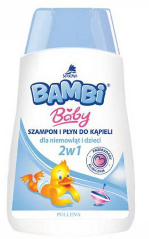 Shampoo e gel da doccia 2 in 1 per bambini - Pollena Savona Bambi 2in1 Shampoo & Shower Gel