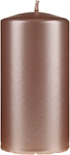 Profumi e cosmetici Candela decorativa in madreperla, 14 cm, oro-rosa - Artman Opal Candle