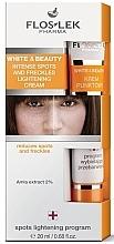 Profumi e cosmetici Crema schiarente per macchie di pigmento e lentiggini - Floslek White & Beauty Intense Spots And Freckles Lightening Cream