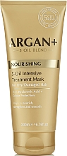 Profumi e cosmetici Maschera per capelli secchi e danneggiati - Argan + Nourishing 5-Oil Intensive Treatment Mask