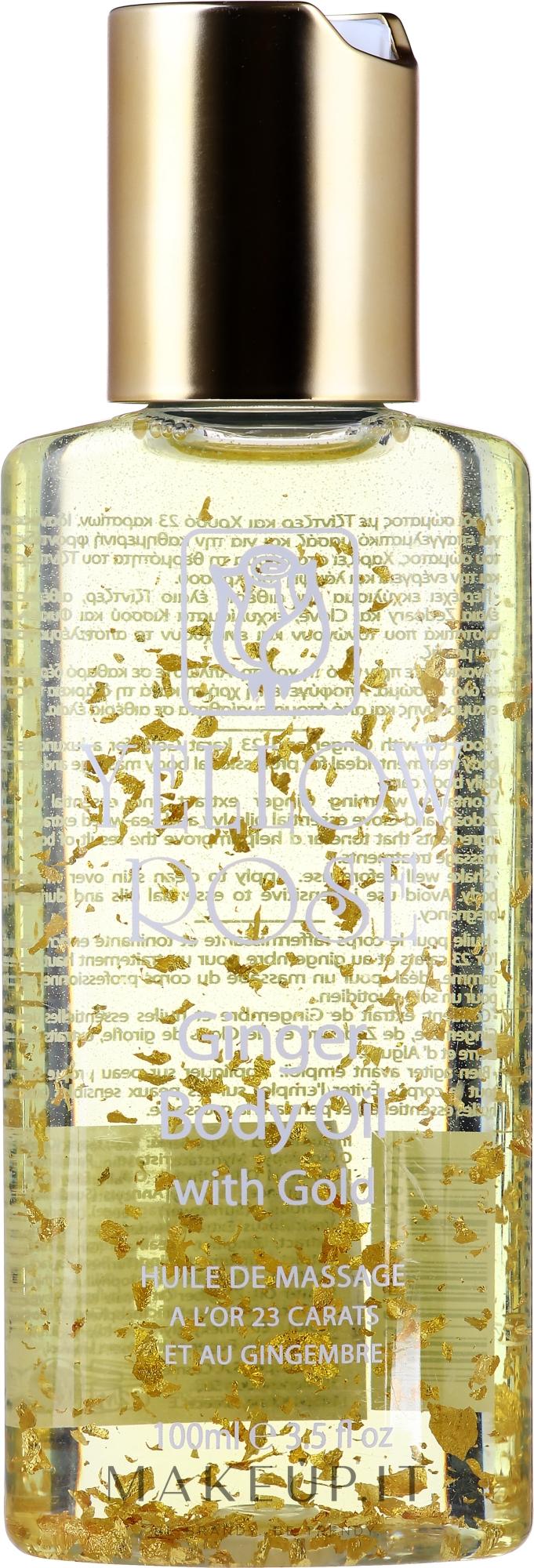 Olio corpo con oro e zenzero - Yellow Rose Ginger Body Oil With Gold — foto 100 ml