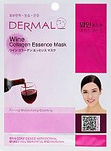 """Profumi e cosmetici Maschera con collagene e estratto di """"vino rosso"""" - Dermal Wine Collagen Essence Mask"""
