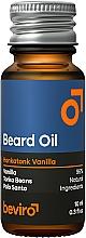 Profumi e cosmetici Olio da barba - Beviro Beard Oil Honkatonk Vanilla