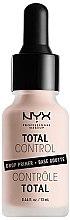 Profumi e cosmetici Base trucco - NYX Professional Makeup Professional Total Control Drop Primer