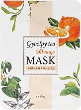 "Profumi e cosmetici Maschera viso ""Gyoolpy Tea & Orange"" - A:t fox Gyoolpy Tea & Orange Mask"