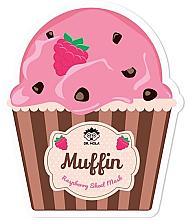 Profumi e cosmetici Maschera viso in tessuto - Dr. Mola Muffin Raspberry Sheet Mask