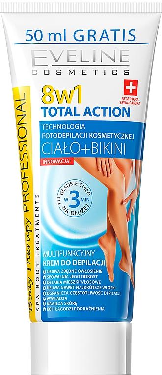 Crema depilatoria 8in1 - Eveline Cosmetics 8w1 Total Action
