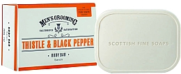 Profumi e cosmetici Sapone corpo - Scottish Fine Soaps Men's Thistle & Black Pepper Body Bar