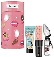 Profumi e cosmetici Set - Benefit Beauty Thrills Holiday Set (primer/7.5ml + mascara/4g + br/gel/1.5g)
