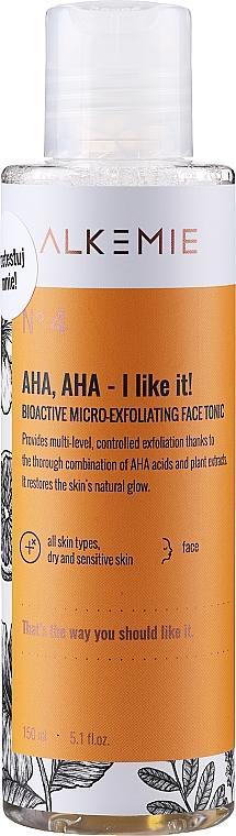 Tonico viso microesfoliante - Alkemie Nature's Treasure Aha Aha I Like It! Tonic