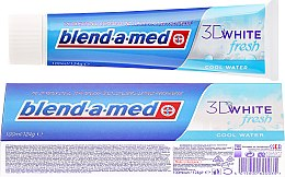 "Profumi e cosmetici Dentifricio ""Cool Freshness"" - Blend-a-med 3D White Fresh Cool Water Toothpaste"