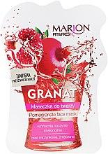 """Profumi e cosmetici Maschera viso """"Melograno"""" - Marion Fit & Fresh Pomegranate Face Mask"""