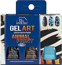 Profumi e cosmetici Set - IBD Just Gel Polish Animal Print Gel Art(nail/lacquer/7,4mlx3)