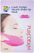 Profumi e cosmetici Maschera-bendaggio per mento e zigomi - Purederm Lovely Design Miracle Shape-up V-line Mask