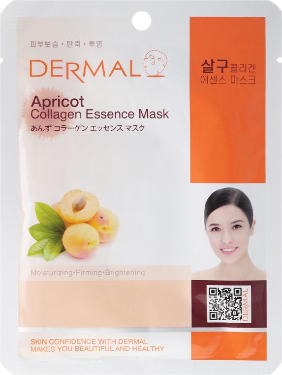 Maschera con collagene e estratto di frutta albicocca - Dermal Apricot Collagen Essence Mask — foto N1