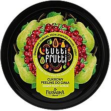 """Profumi e cosmetici Peeling corpo """"Pera e mirtillo"""" - Farmona Tutti Frutti Sugar Scrub"""