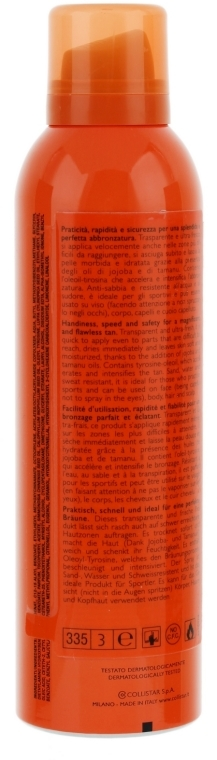 Spray solare idratante - Collistar Moisturizing Tanning Spray SPF10 200ml — foto N2