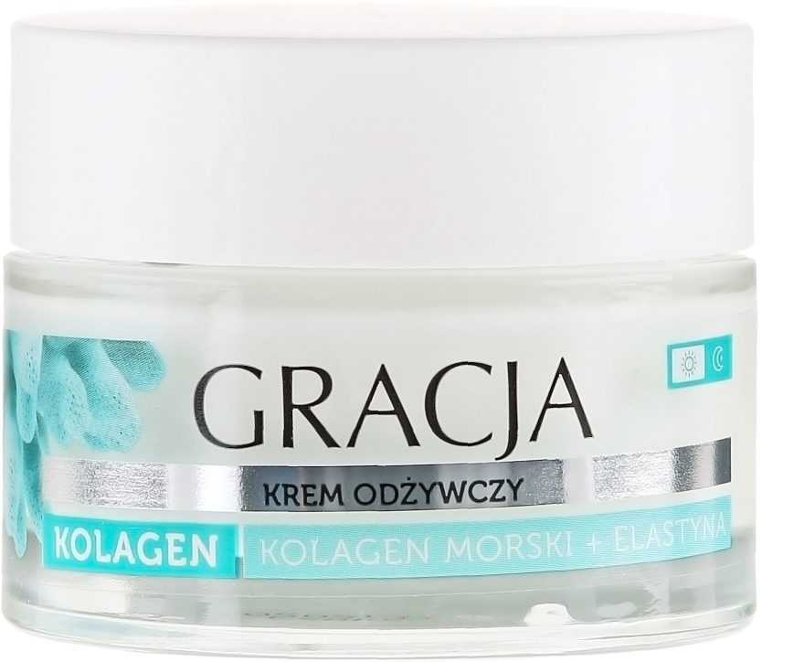 Crema nutriente anti-rughe con collagene marino ed elastina - Gracja Sea Collagen And Elastin Anti-Wrinkle Day/Night Cream