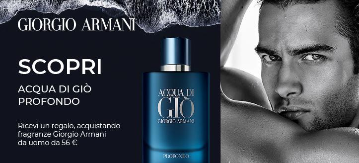 Acquistando fragranze Giorgio Armani da uomo da 56 €, ricevi in regalo Acqua di Giò Profondo