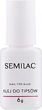 Profumi e cosmetici Colla per unghie finte, con pennello - Semilac Nail Tip Glue