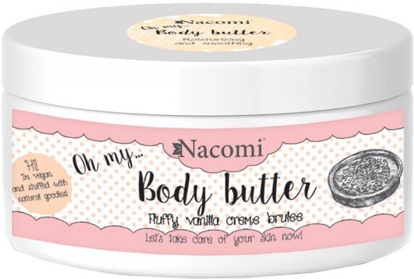 Burro corpo con esstratto di mandorle e vaniglia - Nacomi Body Butter Fluffy Vanilla Creme Brulee