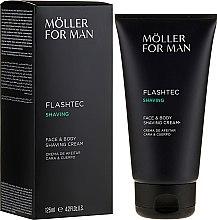 Profumi e cosmetici Crema da barba - Anne Moller Man Flashtec Shaving Face And Body Shaving Cream