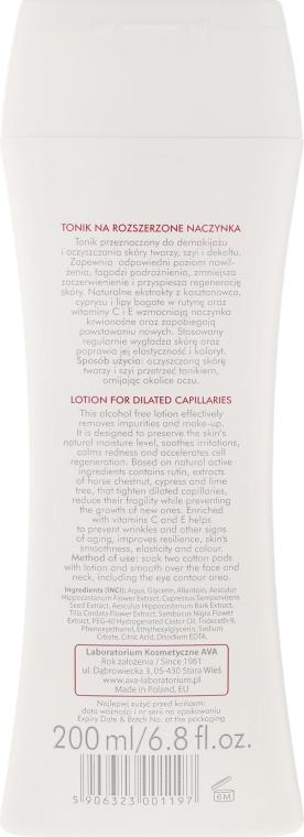 Tonico viso per pelli sensibili con capillari dilatati - Ava Laboratorium Dilated Capillary Vessels Face Lotion — foto N2